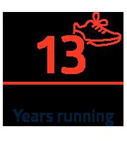 13 years running